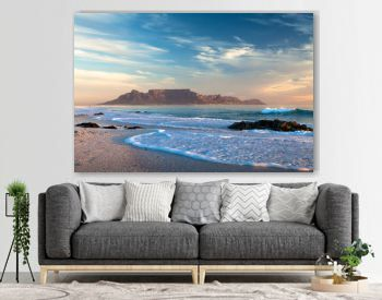 landmark table mountain in cape town south africa scenic view from blouberg