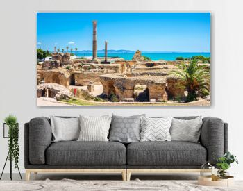 Ruins of ancient Carthage. Tunis, Tunisia, North Africa