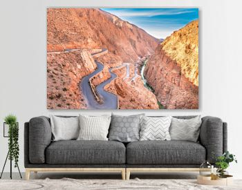 Dades Gorge is a beautiful road between the Atlas Mountains in Morocco