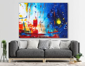 Hand draw colorful watercolor painting abstract party background with texture
