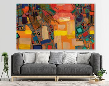 Oil painting, abstract drawing, handmade