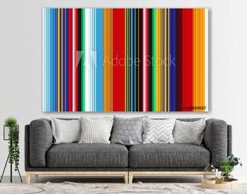 Mexican Blanket Stripes Seamless Vector Pattern.