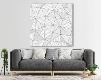 Modern mesh texture with parallel fibers. Light black and white backdrop. Seamless vector pattern. Abstract geometric background with triangles and thin lines.