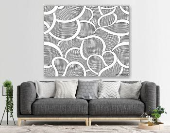 Abstract decorative vector seamless pattern with figured grid ornament