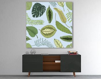 seamles vintage tropical pattern with leaves, hand drawn or enrgaved. vintage looking leaf and plants