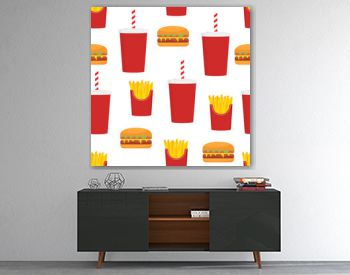 Fast food seamless pattern design.