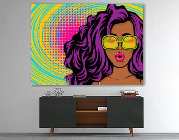 Black young swag woman pop art style