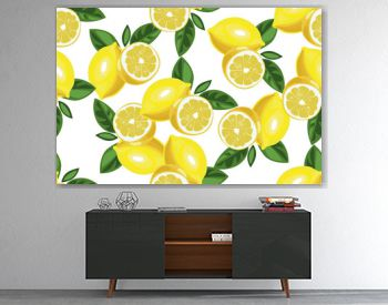 Nice lemon background. Vector hand drawn seamless pattern on white