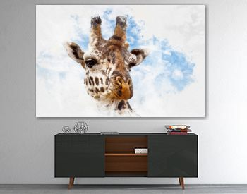 Giraffe portrait mixed media