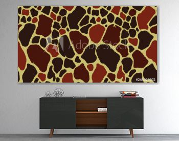 Seamless Giraffe Fur Pattern