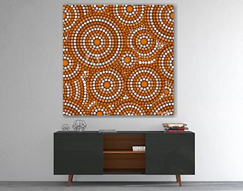 Australian tribes dot pattern vector seamless. Aboriginal art print with concentric circles. Ethnic native ornament for fabric, surface design, wrapping paper or template.