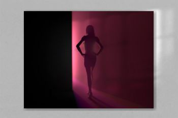 woman in the red light