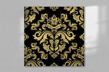 Classic seamless black and golden pattern. Damask orient ornament. Classic vintage background