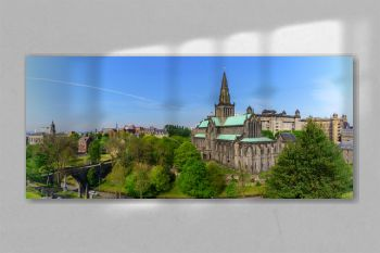Panoramic Glasgow Cathedral is the oldest cathedral on mainland and is the oldest building in Glasgow and also called St Mungo Cathedral , Scotland
