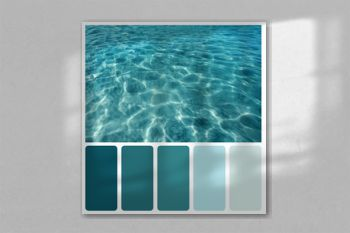 Ripples and flecks on ocean water. Color palette