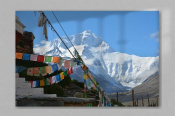 Mount Everest seen from Tibet