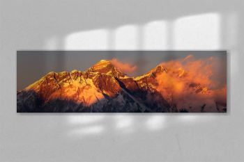 mount Everest Lhotse Nepal Himalayas mountains sunset