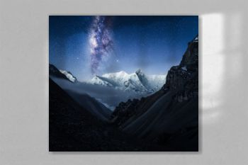 Milky Way Galaxy above Annapurna Conservation Area National Park in Himalaya, Nepal