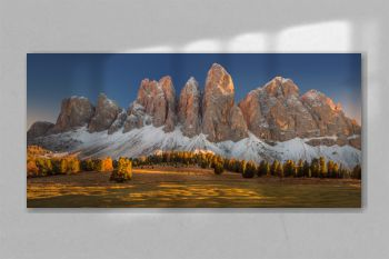 Autumn colours in the Dolomites mountains, beautiful landscape, Italy, Europe