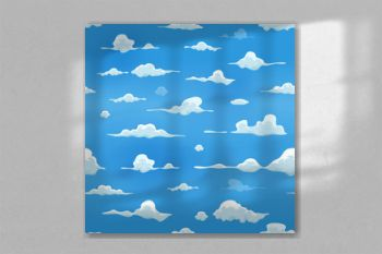 Seamless Clouds On Blue Sky Background