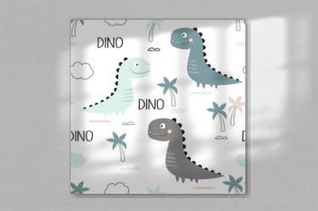 pattern of cute dinosaurs