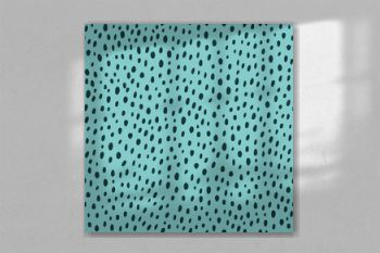 Contemporary polka dot shapes seamless pattern in vector.