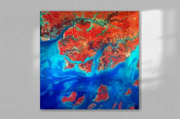 Guinea-Bissau, a small country in West Africa. Original from NASA