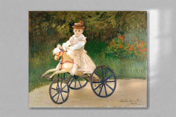 Jean Monet on His Hobby Horse (1872) by Claude Monet
