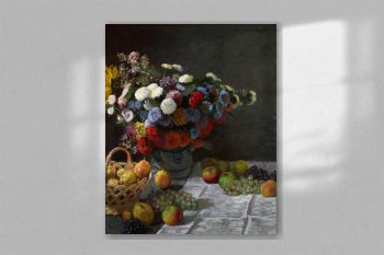 Still Life with Flowers and Fruit (1869) by Claude Monet