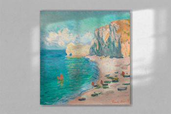 The Beach and the Falaise d'Amont (1885) by Claude Monet