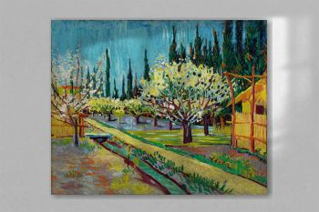 Orchard Bordered by Cypresses (1888) by Vincent Van Gogh