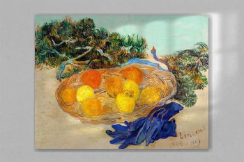 Still Life of Oranges and Lemons with Blue Gloves (1889) by Vincent Van Gogh