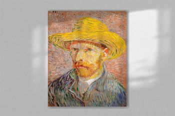Self-Portrait with a Straw Hat (1887) by Vincent Van Gogh