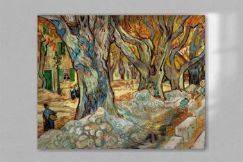 The Large Plane Trees (Road Menders at Saint-Rémy) (1889) by Vincent Van Gogh