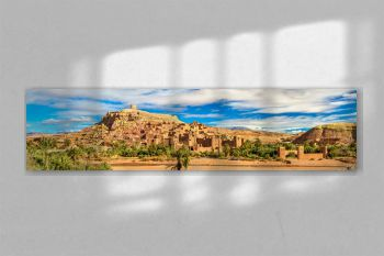 Panoramic view of Ait Benhaddou, a UNESCO world heritage site in Morocco