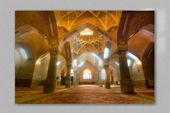 The interior of Jameh Mosque of Tabriz or Tabriz central mosque located next to the Grand Bazaar of Tabriz and the Constitutional House of Tabriz.Iran.