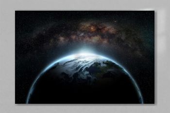 world and milky way Elements of this image furnished by NASA