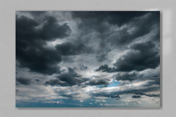 Dark storm clouds on the sky