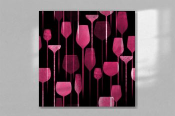 Party drinks textured seamless pattern