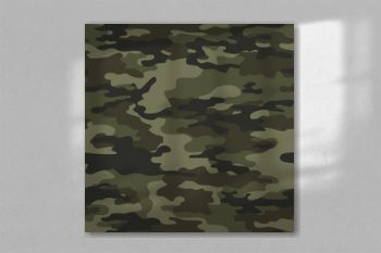 camouflage print pattern seamless on green background. Vector. Stylish design.