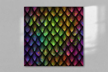 Seamless texture of dragon scales with colorful grunge pattern, reptile skin, 3d illustration