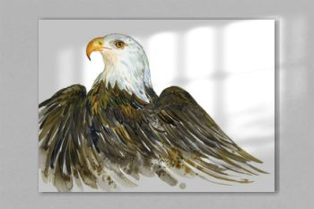 Bird eagle, watercolor Illustration on white background