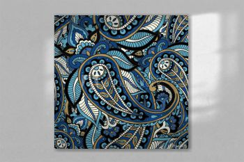 Seamless repeating pattern consisting of colored patterns buta.Vector