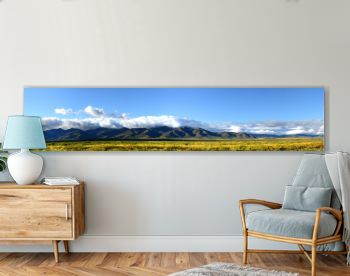 Panoramic view of the mountains of northern New Mexico