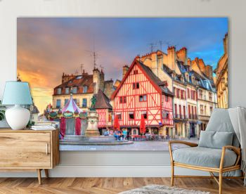Traditional buildings in the Old Town of Dijon, France