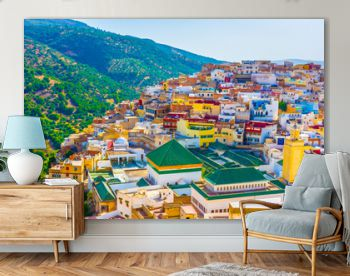 Landscape of the sacred town of Moulay Idriss, Morocco