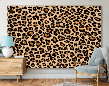 Print leopard pattern texture repeating seamless orange black