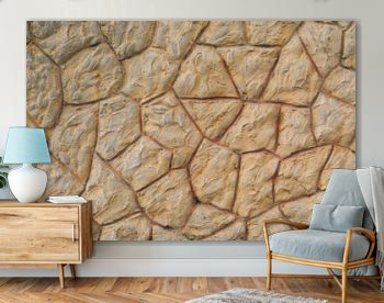 antique brown wall of lot stones background
