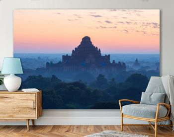 Dhammayangyi temple the largest pagoda in Bagan the first empire of Myanmar during the sunrise.