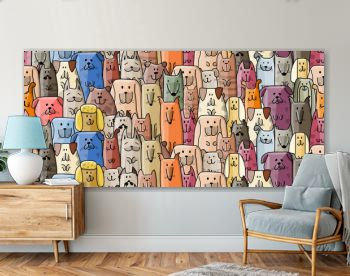 Funny dogs family, seamless pattern for your design